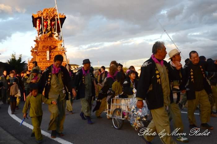 上喜多川屋台(だんじり) 統一運行 西条祭り2013 伊曽乃神社祭礼