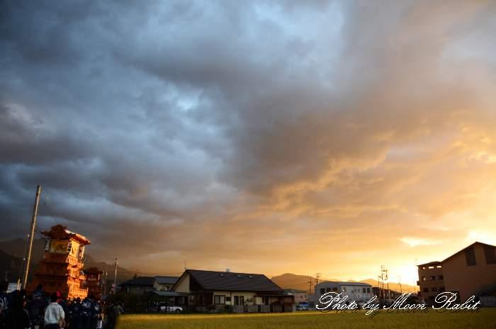 上神拝屋台(だんじり) 統一運行 西条祭り2013 伊曽乃神社祭礼