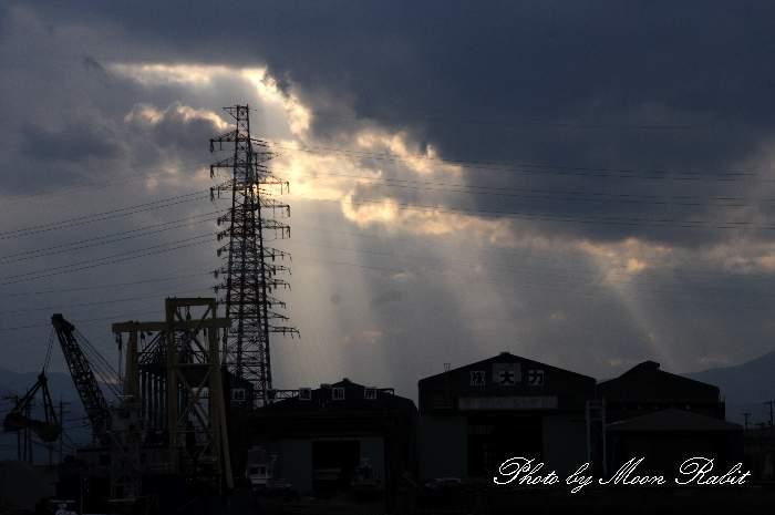 光芒 愛媛県西条市港新地 四国電力西条発電所