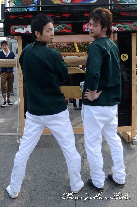 横黒だんじり(屋台) 祭り装束 風伯神社祭礼2014