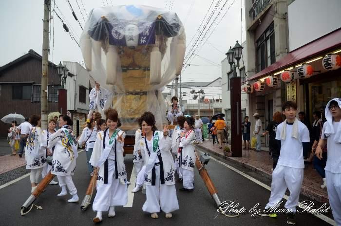女太鼓台 新居浜夏祭り2014 愛媛県新居浜市 昭和通り