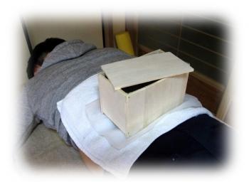 箱灸作り 温灸