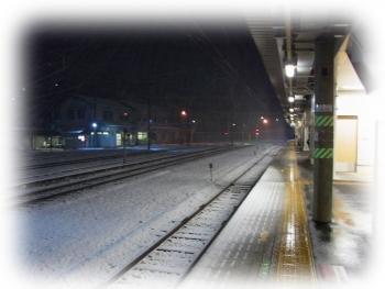 橋本駅 雪