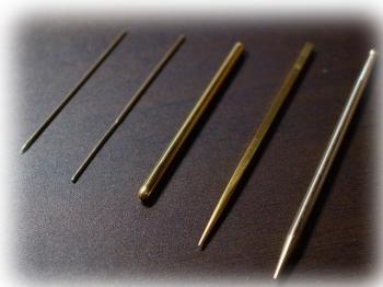 てい鍼 純金 テイ鍼 ていしん テイシン てい針