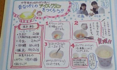 アイスクリンレシピ