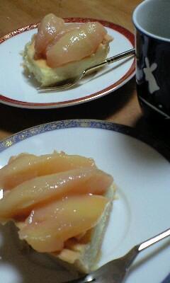 桃チーズケーキ