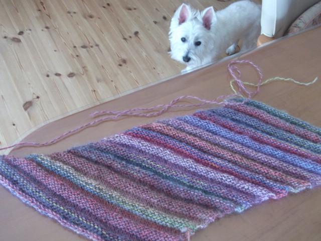 手編みの帽子・・