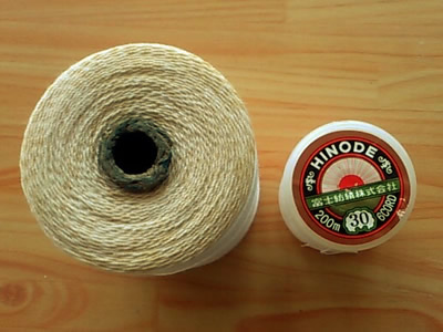 普段の糸と