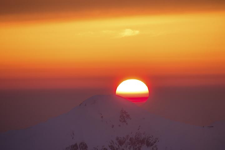 140422 笠と夕陽