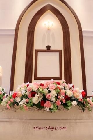 春のかわいい 結婚式花