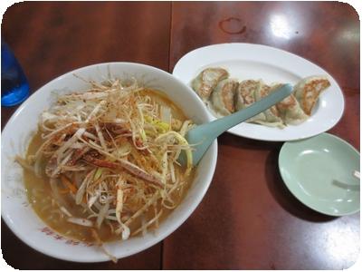 ネギみそラーメン+餃子