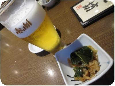 グラスビール(クーポン利用)