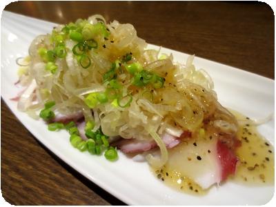 タコネギ塩ダレ(カルパッチョ風)