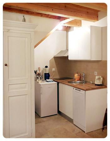 アパートメントの台所