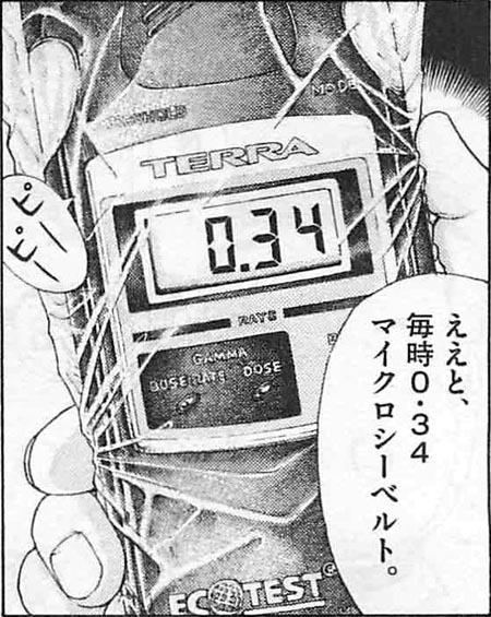 美味しんぼ」のガイガーカウンター(放射線測定器)~福島とTERRA ...