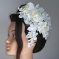 胡蝶蘭と紫陽花のウエディングカチューシャ