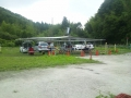 飛行場テント設営