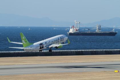 神戸空港のくまもん飛行機
