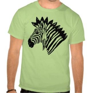 Indian zebra tshirt_zazzle