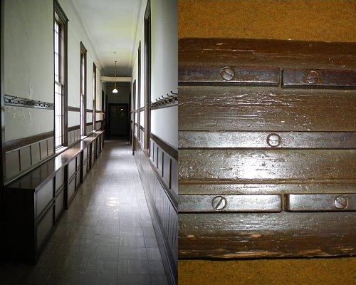 旧弘前偕行社・廊下とホール敷居