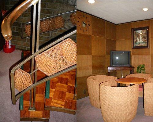 綿業会館・地下階段&休憩所
