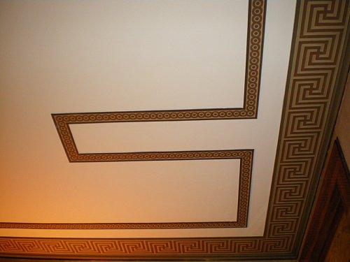 綿業会館・本館会議室天井2