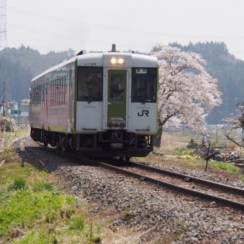 キハ110系 気動車【磐越東線 夏井駅付近】