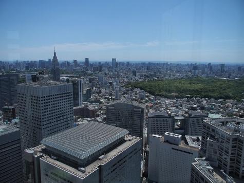 東京タワー方向【東京都庁より】