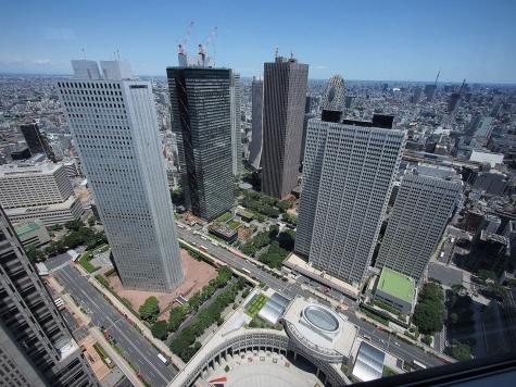 新宿副都心のビル群【東京都庁より】