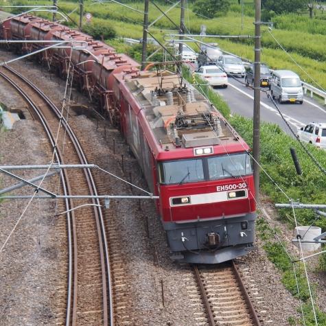 EH500-30 電気機関車 牽引の安中貨物