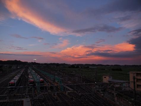 土浦運輸区【雨上がりの夕暮れ】
