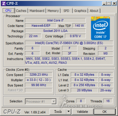 Core i7 5960X CPU-Z SS(2014年5月28日)