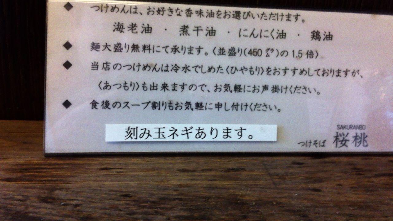桜桃説明書き