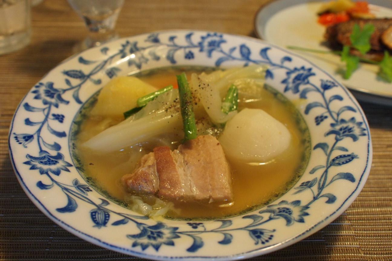 豚バラスープ