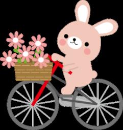 うさぎ自転車