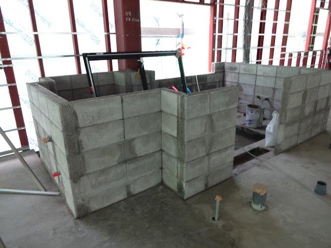 グループホーム和庵~コンクリートブロック積み完了